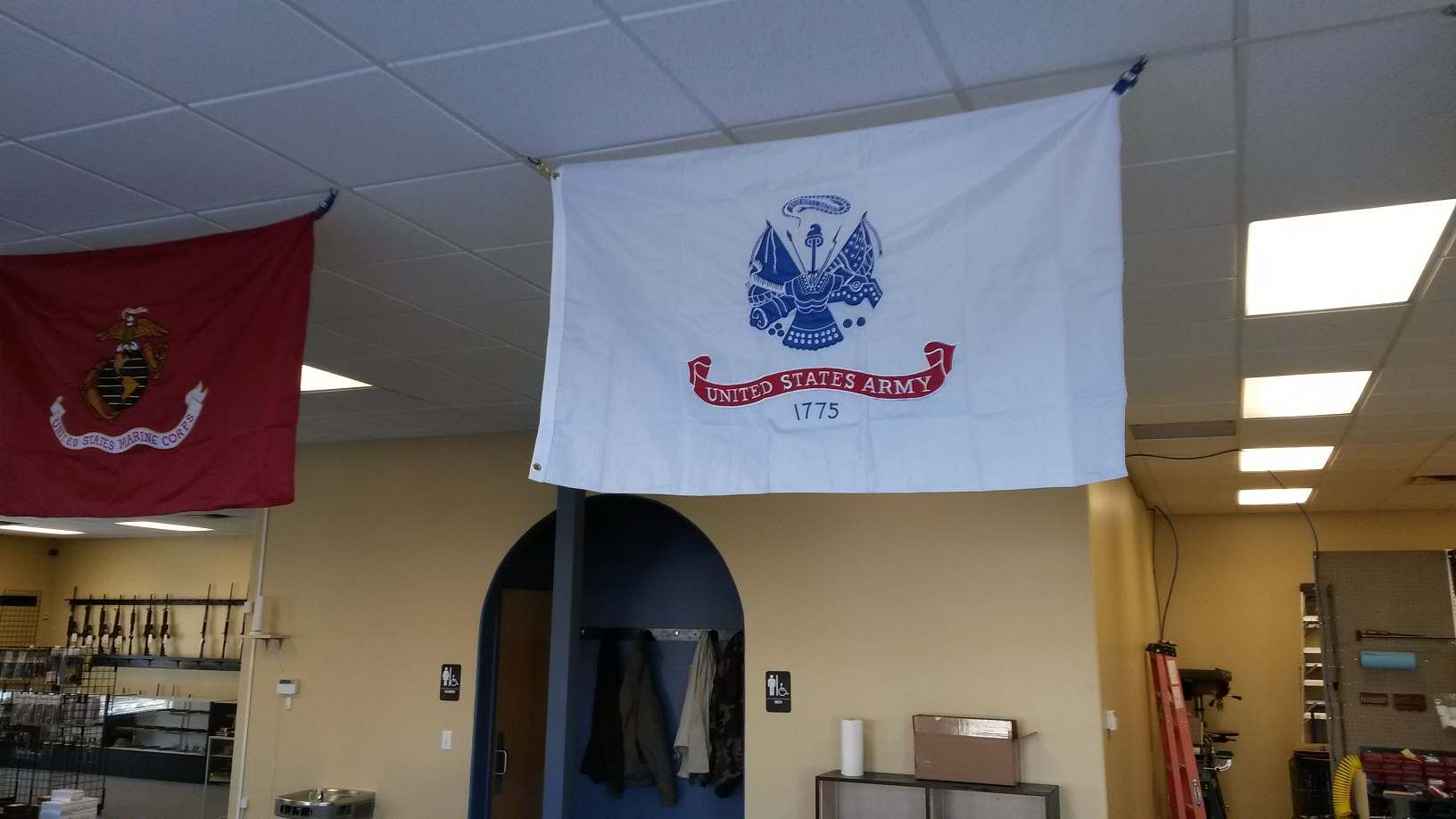 Army and Marine Flags